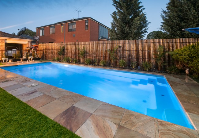 bgs pools and spas compass fibreglass pools courtyard