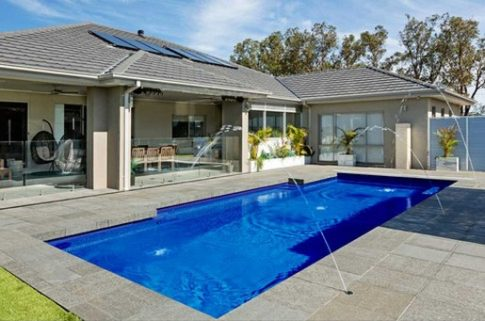 Compass Pools Australia Vivid Fibreglass Pool Colours Royal Blue Water Colour